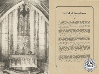 A Scarce First War Hall of Remembrance Commemorative Card
