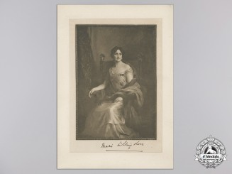 A Printed Portrait of Marie Freeman-Thomas; Marchioness of Willingdon 1929
