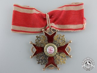 A Russian Imperial Order of Saint Stanislas in Gold; Third Class