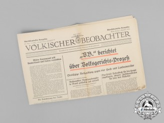 "The ""Völkischer Beobachter"", vol. 51, Issue 308, 1938"