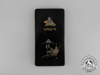 A Korean War 3rd Battalion Royal 22nd Regiment Japanese Service Cigarette Case