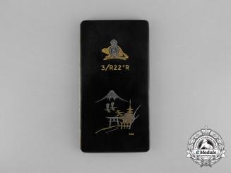 Canada. A 3rd Battalion Royal 22nd Regiment Japanese Service Cigarette Case