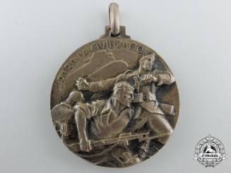 An Italian Spanish Campaign Medal for Bilbao 1937