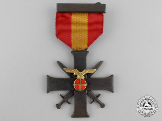A Norwegian Order for Bravery and Loyalty (Quisling Cross); 2nd Class with Swords