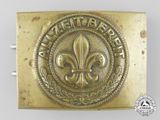 "A German Boy Scouts ""Pfadfinderbunds"" (Scout Federation) Belt Buckle"