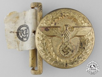 A Political Leader's Belt Buckle; Reduced Size & Published Example