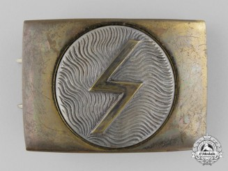 A Deutscher Pfadfinderbund Belt Buckle with Sun Spiral