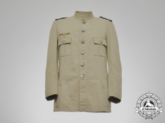 A Second War Kriegsmarine Oberleutnant Tropical Engineer's Tunic 1943