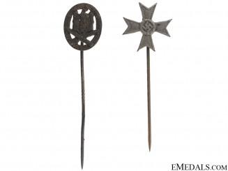 GAB & War Merit Cross Pins