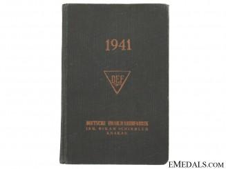 1941 Pocket Yearbook from Schindler Factory, Krakau