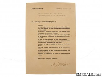 SS Totenkopf Ring Award Document