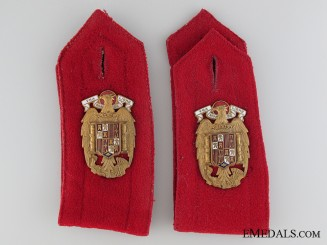 General Franco Escort Regiment S. E. Shoulder Strap Pair