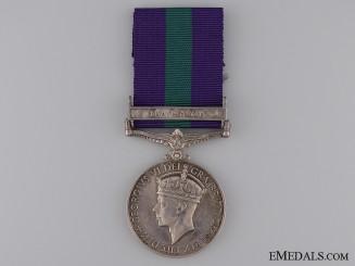 General Service Medal - Devon Regiment