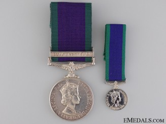 General Service Medal 1962-2007 to the Royal Navy