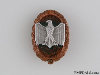 German Gardeners Ten Years' Service Badge