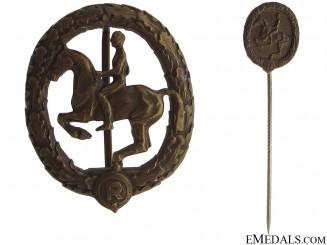 German Horseman Award with Miniature