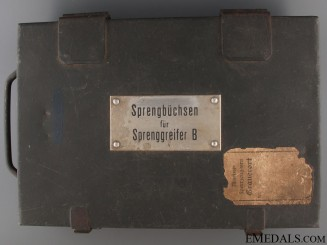 German Minesweeper Demolition Charge Box