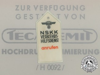 An NSKK Road Assistance Vehicle Tag