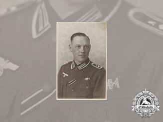 Germany, Heer. A Wartime Photo of a Feldwebel with Iron Cross 2nd Class and Hungarian War Service Medal