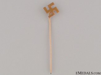 Gold Swastika pin