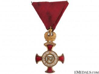 Golden Cross of Merit with Crown