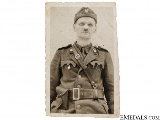 Good photo of Ustasha Fighter in Uniform