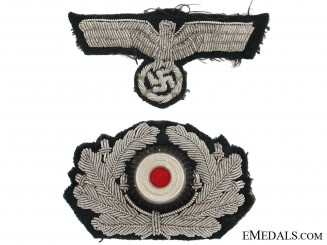Army Officer Visor Cap Insignia