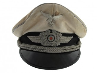 Officer's Summer White Visor Cap