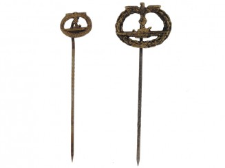 Two Submarine War Badge-Stickpins