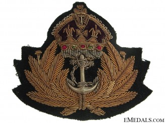 GRVI Royal Canadian Navy Officer's Cap Badge