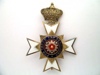 SCHAUMBURG-LIPPE, OFFICER'S MERIT CROSS