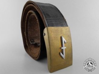 A German National Socialist School Student Belt with Buckle; Published Example