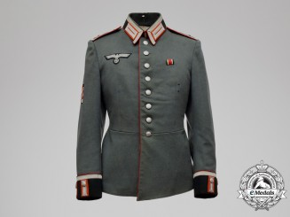 A Croatian Volunteer's German Heer Artillery Sergeant (Feldwebel) Officer's Tunic