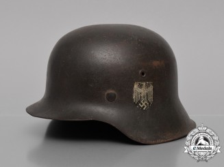 A Late War Single Decal M42 Wehrmacht Heer (Army) Stahlhelm