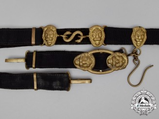 A Kriegsmarine Officer's Belt with Dagger Hangers
