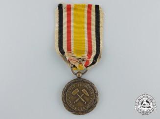 A Scarce 1923 Saar Mines Medal; 3rd Class Bronze Grade