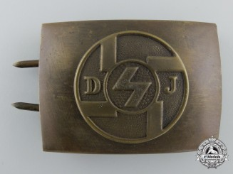 An Early German Youth DJ Belt Buckle; Published Example