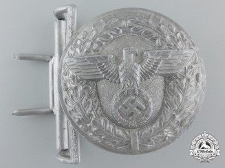 A Scarce Silver Political Leader's Belt Buckle by Christian Theodor Dicke; Published Example
