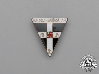 A Third Reich Period National Socialist Women's League Membership Stick Pin by Karl Wurster