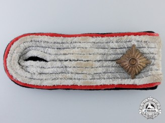 A Single Waffen-SS Obersturmführer's Shoulder Board; Artillery