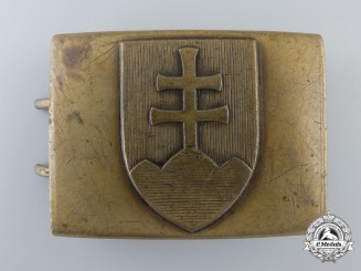 A Second War Slovakian Army Belt Buckle by Mincovna KRL Ynica