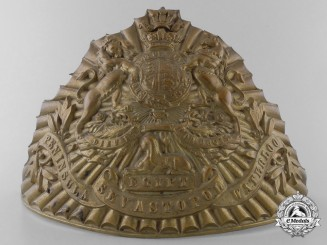 A Victorian 12th (The Prince of Wales's) Royal Regiment of Lancers Helmet Plate, c. 1860s