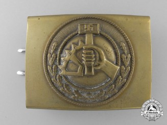 An N.S.B.O. Enlisted Buckle by Overhoff & Cie, Ludenscheid
