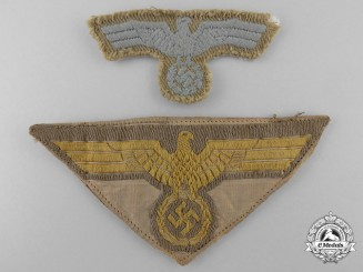 Two Second War German Tropical Insignia