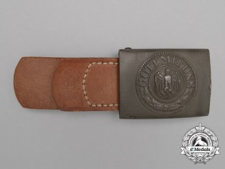 A Dated 1940 Wehrmacht Heer EM/NCO's Service Belt Buckle with Tab by Richard Sieper