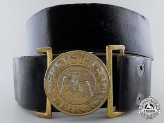 A Weimar Republic Prussian State Police Officer's (Schutzpolizei) Belt with Buckle