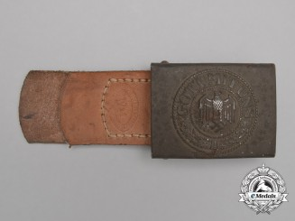 A Dated 1941 Wehrmacht Heer EM/NCO's Service Belt Buckle with Tab by Richard Sieper