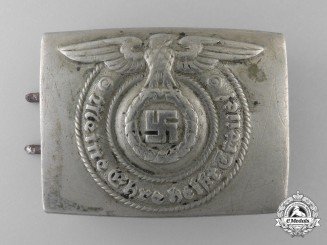 An SS EM's/NCO's Steel Belt Buckle by Overhoff and Cie