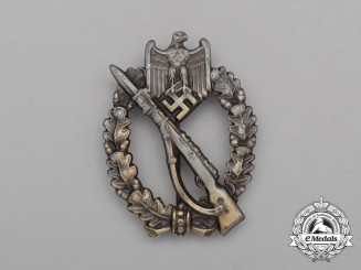 A Second War German Gold Grade Infantry Assault Badge by Ferdinand Wiedmann