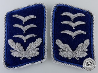 A Set of Luftwaffe Medical Reserve Hauptmann's Collar Tabs